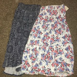 Set of 2 st John's Bay Midi skirts size PXL